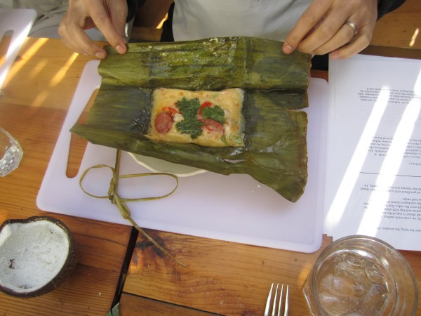 The Tamales Is A Philippine Rice Cake Made With Coconut Milk And Achuete Also Known As Annato This Rice Based Goodie Is Topped With Slivers Of