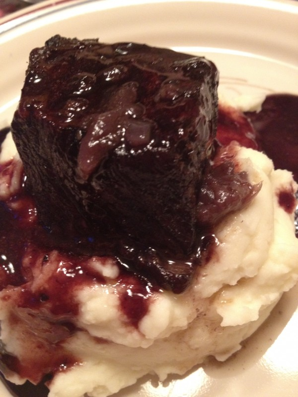 Red Wine Braised Beef Short Ribs with Homemade Mashed Potatoes
