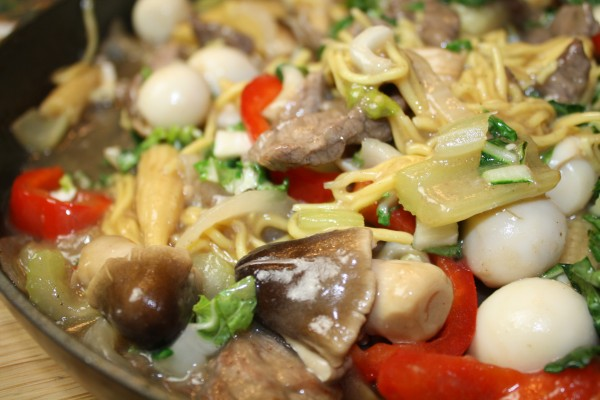 Hot pepper beef with chinese egg noodles baby corn quail eggs luckily our wok wednesday group had an extra wednesday to be adventurous this october so we had a free hand to stir fry any recipe from previous posts of forumfinder Gallery