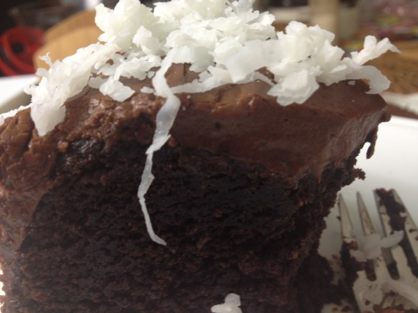 Chocolate Fudge Cake with Coconut and Rum - Asian In America