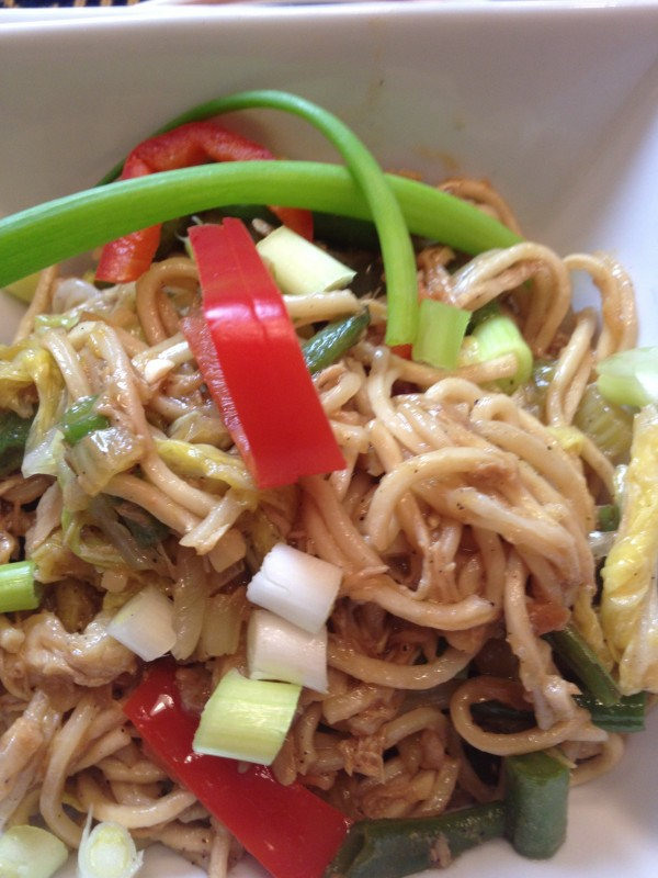 Filipino Pancit Canton Egg Noodles With Chicken And Vegetables