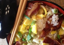 Bacon Fried Rice : Breakfast for Dinner