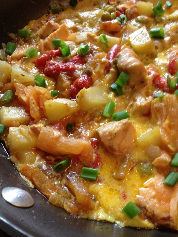 Frittata with Potatoes, Peppers, Tomatoes and Peas - Asian In America ...