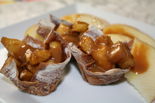 ... One quick dessert was this family favorite : Apple Filled Wonton Cups