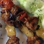 How to make Grilled Pineapple-Pork Barbecue Skewers