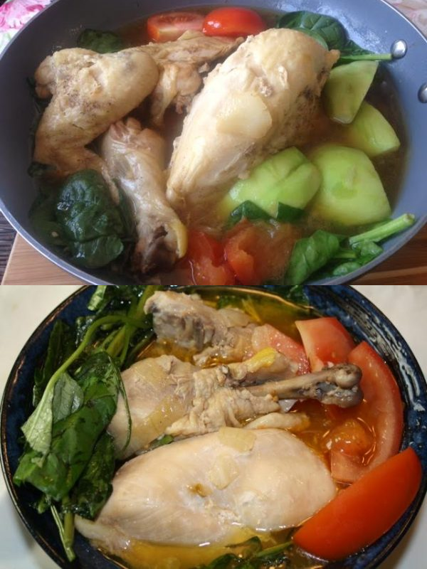 How to cook chicken tinola – ginger stew with vegetables