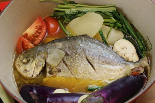How to cook sinigang na pompano with lemongrass asian in for Pompano fish recipe