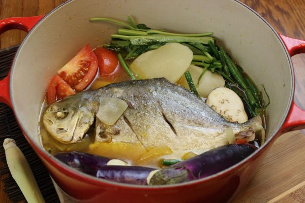 How to cook sinigang na pompano with lemongrass asian in for Pompano fish recipes