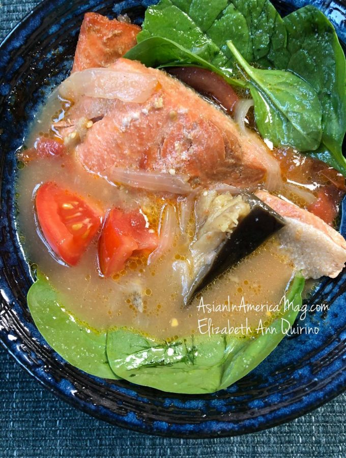 Instant Pot Sinigang Na Salmon Tamarind Stew Asian In America